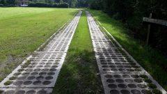 Grass paving concrete slabs